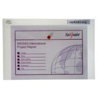 Snopake Polyfile A4 Çıtçıtlı Dosya(330X240mm)Şeffaf Sp12841x
