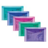 Snopake Polyfile A4 Çıtçıtlı Dosya(330X240mm)Karışık Renkler Sp12844
