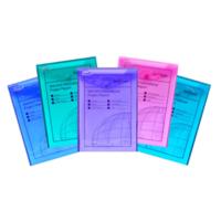 Snopake Polyfile P A5 Dikey Çıtçıtlı Dosya(250X180mm)Karışık Renkler Sp13274
