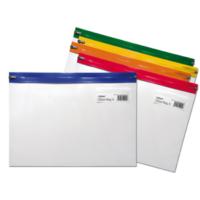 Snopake Zippa Bag A4 Fermuarlı Dosya(325X235mm)Karışık Renkler Sp12796