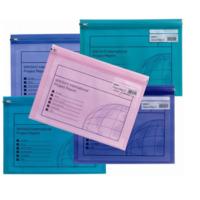 Snopake Zippa Bag 'S' A4 Fermuarlı Dosya(325X235mm)Karışık Renkler Sp14141