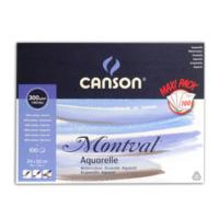 Canson Montval Sulu Boya Bloğu 300Gr 24*32 Grenli 100Yp C200006651