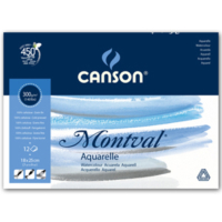 Canson Montval Suluboya Blok Grenli 300 Gr. 18 X 25 Cm. 12 Safya