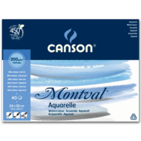 Canson Montval Suluboya Blok 200 Gr. 40 Sayfa 24X32 Cm.