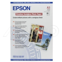 Epson A3 Premıum Semıgloss Photo Paper 251Gr 20Ade