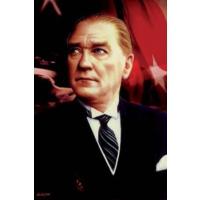 Ekin Bayrakçılık Atatürk Resmi Raşel Kumaş 100x150cm.