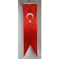Ekin Bayrakçılık Kırlangıç Türk Bayrağı Saten 50x200cm.