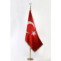 Ekin Bayrakçılık Makam Bayrağı Saten Simli 100x150cm.