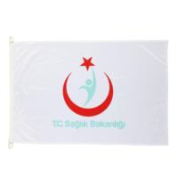 Ekin Bayrakçılık Sağlık Bakanlığı Logolu Direk Bayrağı70X105cm.