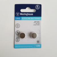 Westinghouse AG12,LR43 Alkalin Saat Pili 2li Blister Ambalaj