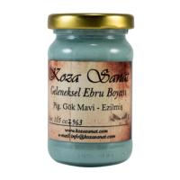 Koza Ebru Boyası - Ezilmiş Boya Pigment Gök Mavi 105 cc