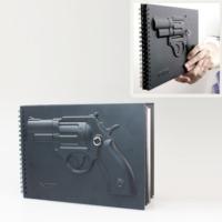 Original Boutique Tabanca Bomba Bıçak Desenli Özel Tasarımlı Defter