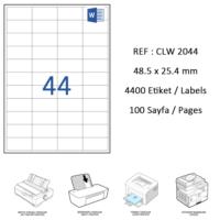 Crea Label Clw-2044 48.5 X 25.4 Mm Lazer Etiket