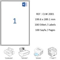 Crea Label Clw-2001 199.6 X 289.1 Mm Lazer Etiket