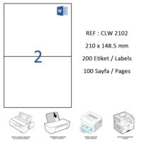 Crea Label Clw-2102 210 X 148.5 Mm Lazer Etiket
