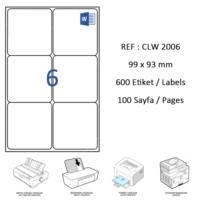 Crea Label Clw-2006 99.1 X 93.1 Mm Lazer Etiket