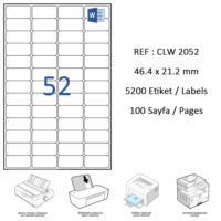 Crea Label Clw-2052 46.4 X 21.2 Mm Lazer Etiket