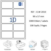 Crea Label Clw-2010 99.1 X 57 Mm Lazer Etiket