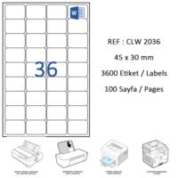 Crea Label Clw-2036 45 X 30 Mm Lazer Etiket
