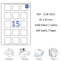 Crea Label Clw-2015 45 X 45 Mm Lazer Etiket