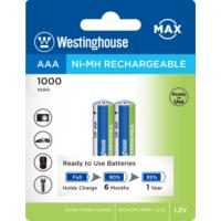 Westinghouse 1000Mah Aaa Şarjlı İnce Pil 2Li Blister Ambalaj Ready To Use