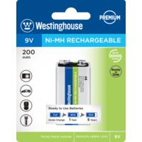 Westinghouse 9V 200Mah Nimh Tekli Blister Ambalaj Ready To Use