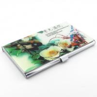 Solfera Kuş Ve Çiçek Desenli İnce Metal Kartvizitlik V011