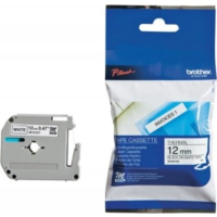 Brother P-Touch M-Tape 12Mm Beyaz-Siyah Etiket M12K231