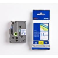 Brother P-Touch Tz-Tape 18Mm Beyaz-Mavi Etiket 18Tze243