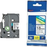 Brother P-Touch Tz-Tape 18Mm Beyaz-Siyah Etiket 18Tze241