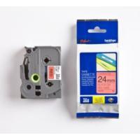 Brother P-Touch Tz-Tape 24Mm Kırmızı-Siyah Etiket 24Tze451