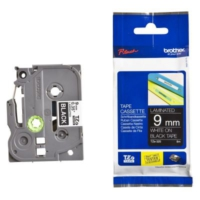 Brother P-Touch Tz-Tape 9Mm Siyah-Beyaz Etiket 9Tze325
