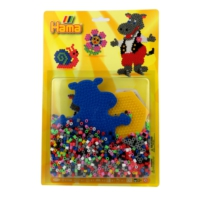 Hama - Hippopotam - 1100 boncuk - 4073
