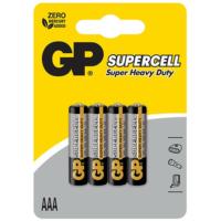 GP 4'lü Supercell AAA Boy İnce Çinko Karbon Pil (GP24PL-U4)