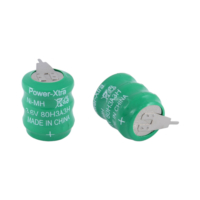 Power-Xtra 3.6V Ni-Mh 80 Mah 2 Pin Buton Pil