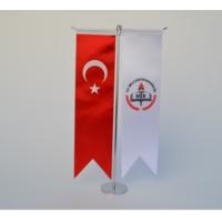 Bayrakal Milli Eğitim Bakanlığı Ve Türk Bayrağı Kırlangıç Masa Bayrak Takımı
