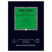 Arches Suluboya Blok Defter - Orta Doku - 300 gr A4 12 Yp.