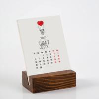 Bialdım.Com Aşk Tasarımlı Takvim 2017