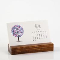Bialdım.Com Top Ağaç Yatay Tasarımlı Takvim 2017