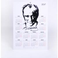 Keskin Color 35*50 12 Ay Floklu Poster Takvim-Atatürk 2017