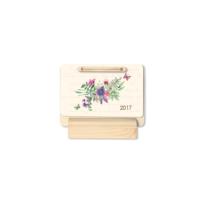 Keskin Color Ahşap Üçgen Masa Takvimi-Çiçek 2017