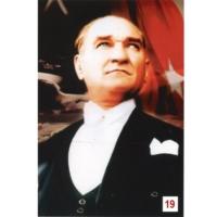 Us Bayrak Atatürk Posteri 19 no
