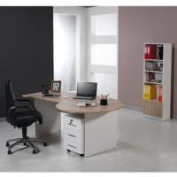 Dessenti Kristal Ofis Masası Kesonlu Beyaz-Sonomo