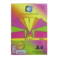Alex Schoeller Neon Renkli Fotokopi Kağıdı A4 80 Gr Karışık Renk-250'li