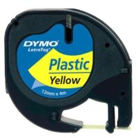 Dymo Letratag Plastik Etiket Renk - Sarı