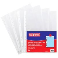 Globox Poşet Dosya Kristal Beyaz Şeritli 100'lü