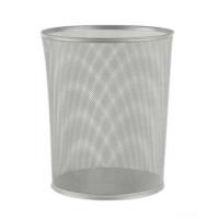 Globox Metal Tam Delikli Çöp Kovası 10 Lt Renk - Gümüş