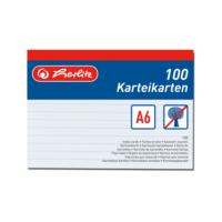 Herlitz A6 100 Çizgili Beyaz Kartotek 606