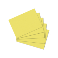 Herlitz A7 100'lü Düz Sarı Kartotek