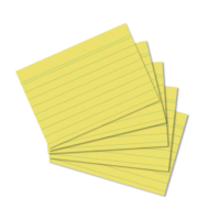 Herlitz A6 100'lü Çizgili Sarı Kartotek